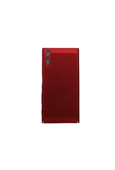 Markaavm Sony Xperia XZ Fileli Rubber Kılıf - Kırmızı