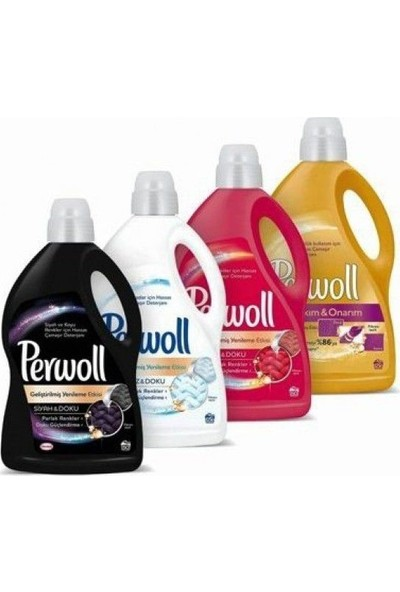 Perwoll Hassas Çamaşır Deterjanı Seti 3 lt 4'lü Set