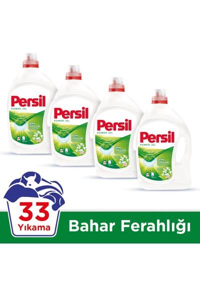 Persil Jel Sıvı Çamaşır Deterjanı Bahar Ferahlığı 33 Yıkama 4'lü Set