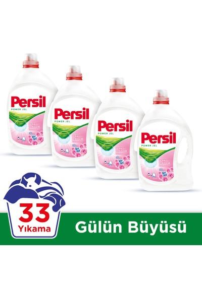 Persil Jel Sıvı Çamaşır Deterjanı Gülün Büyüsü 33 Yıkama 4'lü