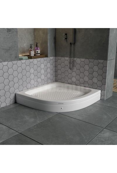 Dbbanyo Oval Duş Teknesi Panelli 100*100*15 cm