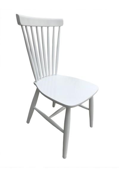 Bengi Sandalye Midilli Ahşap Gürgen Lake Boya