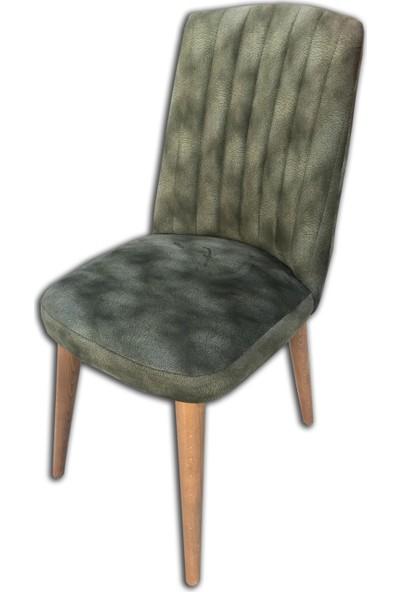 Bengi Sandalye Papel Konik Tornalı Ayak Dikişli Giydirme