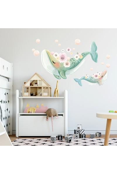 Sim Tasarım Sevimli Yunuslar Duvar Sticker Seti