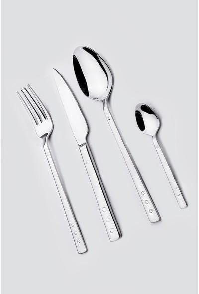 Tozanlı Çelik Ihlas Modeli 36 Parça 6 Kişilik Çatal Kaşık Bıçak Seti