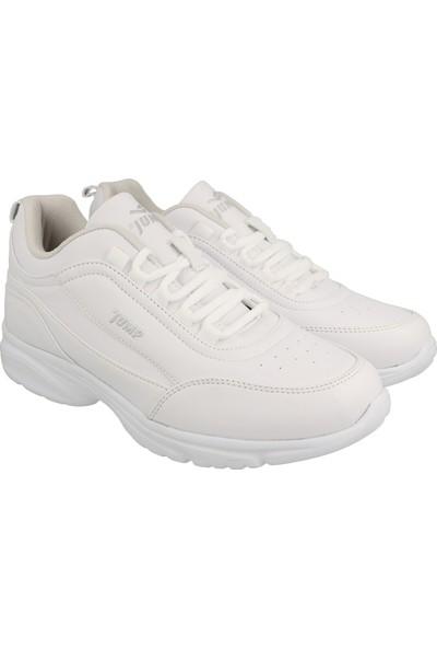 Jump Beyaz Kadın Günlük Ayakkabı 24035-C-White-Sılver