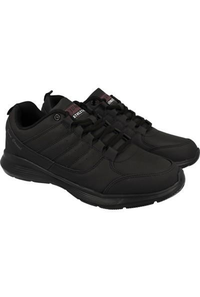Jump Siyah Erkek Günlük Ayakkabı 24036-A-Black-Dkgrey-Burgundy