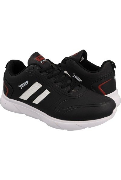 Jump Erkek Günlük Ayakkabı 24068-B-Black-White-Burgundy