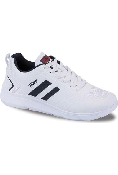 Jump Beyaz Erkek Günlük Ayakkabı 24068-C-White-Navy-Red
