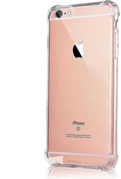 Eretna Apple iPhone 6 Köşeli Silikon Kılıf - Şeffaf