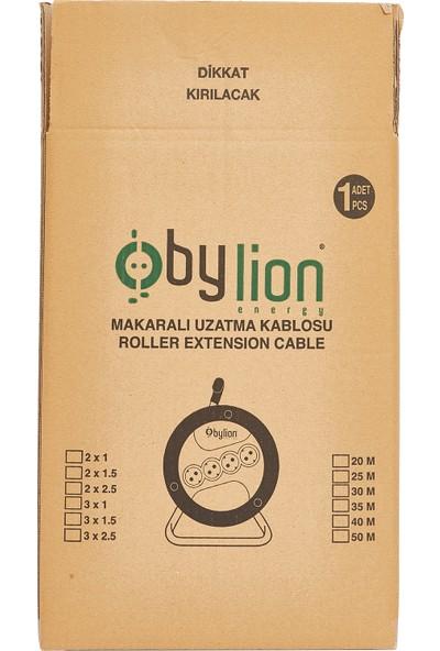 Bylion Makaralı Seyyar Uzatma Kablosu 3 x 1.5 mm² 20 m Turuncu