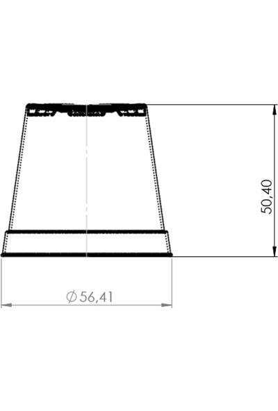 Plastik Sukulent Kaktüs Saksı 5.5 cm 100'lü