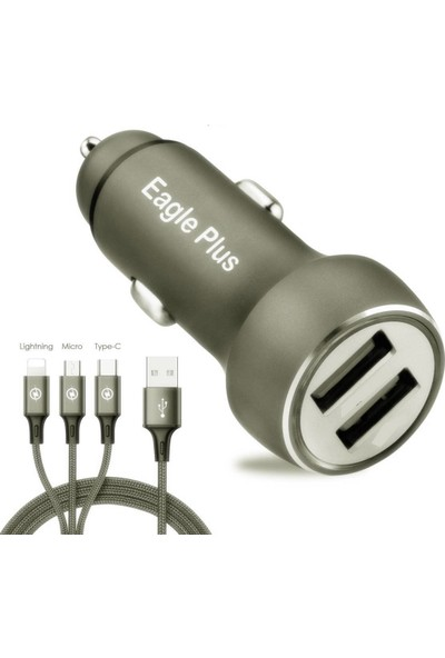 Transformacion Type-C/Lightning/Micro USB 3 in 1 Şarj Aleti