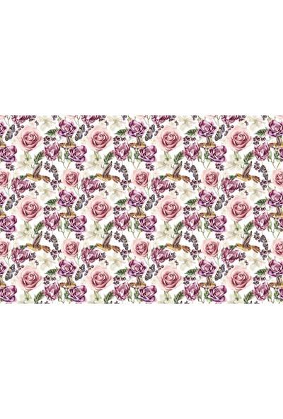 Adawall Çiçek Desenli Adawall Poster Duvar Kağıdı