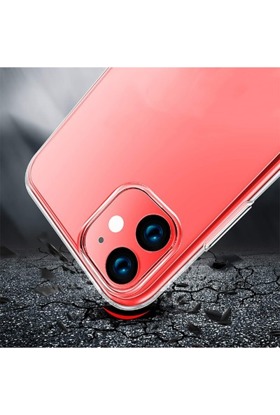 Case 4U Apple iPhone 11 Kılıf Ultra İnce Silikon Arka Kapak İmax Şeffaf