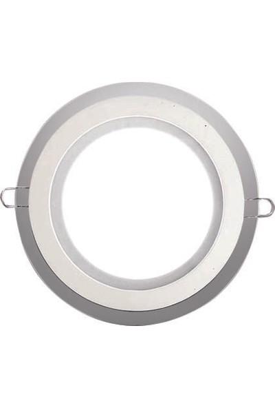 Yuvarlak LED Cam Panel Armatur Beyaz 6 w