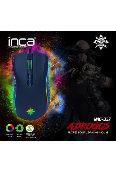 Inca IMG-337 Adrogos RGB Professional Macro Gaming Mouse