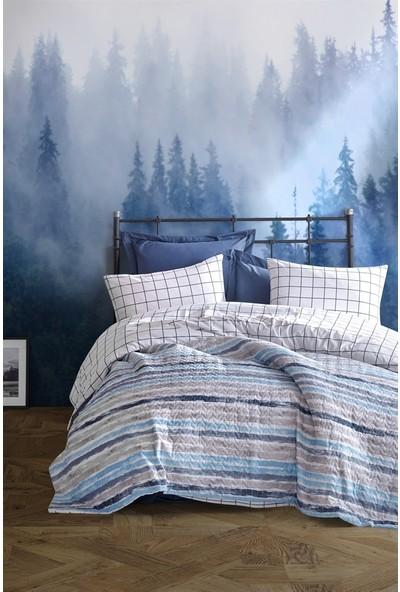 Cotton Box Ranforce Çift Kişilik Complete Set - Grance Mavi