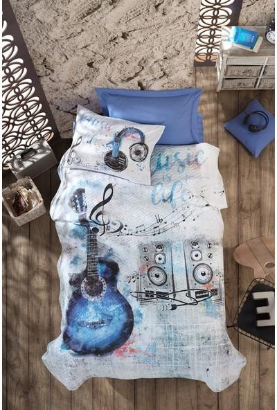 Cotton Box Genç Odası Tek Kişilik Complete Set - Guitar Mavi