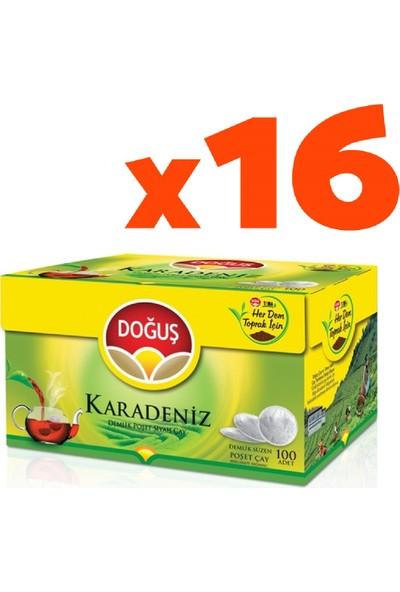 Doğuş Karadeniz Poşet Çay Demlik 100'lü 16'lı Set