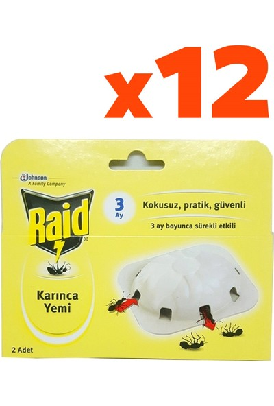 Raid Karınca Yemi 2'li 3 gr 12'li Set