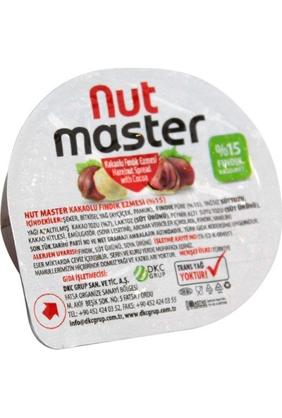 Nut Master Kakaolu Fındık Kreması Piknik 20 gr x 100 Adet