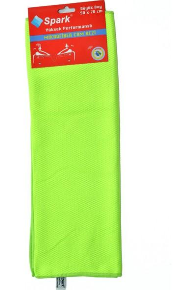 Spark 2311 Mikrofiber Oto Kurulama ve Cam Temizlik Bezi 50 x 70 Cm. (Mavi - Yeşil - Gri) 3'lü