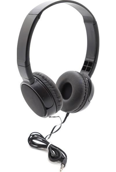 Dost J-08 Kablolu Mikrofonlu Kulak Üstü Kulaklık Super Bass Siyah