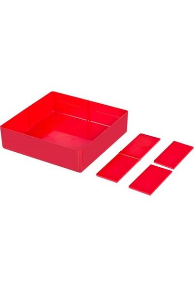 Hipaş Plastik - Plastik 4 Bölmeli Saklama Kabı - Hp-19