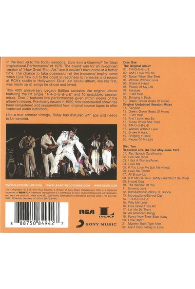 Elvis Presley ‎– Today (2CD)