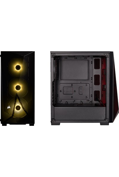 Corsair CC-9020121-EU SPEC-DELTA RGB Temperli Cam MidTower ATX Oyuncu Bilgisayar Kasası + VS550 Power Supply