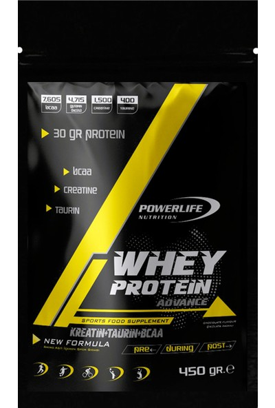 Powerlife Whey Protein Tozu 450 gr Çikolata