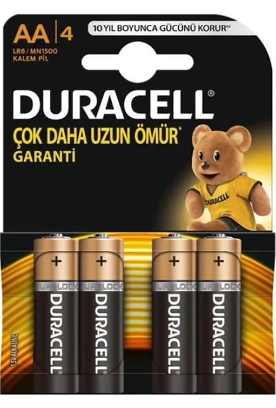 Duracell Alkalin AA Kalem Pil 4'lü Paket