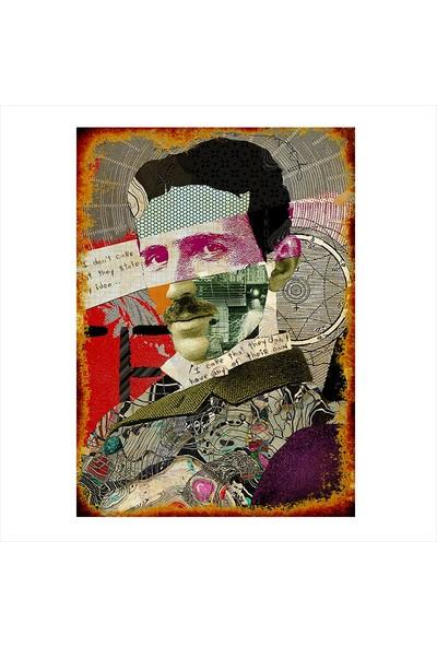 Tablomega Ahşap Tablo Nikola Tesla Posteri
