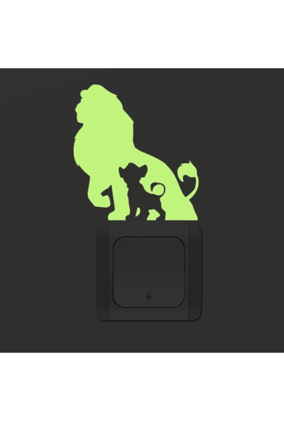 DekorLoft Dekor Loft Gece Parlayan Çocuk Odası Priz Sticker Fps-15