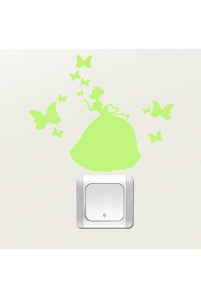 DekorLoft Dekor Loft Gece Parlayan Çocuk Odası Priz Sticker Fps-18