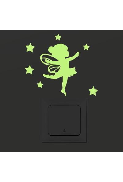 DekorLoft Dekor Loft Gece Parlayan Çocuk Odası Priz Sticker Fps-12