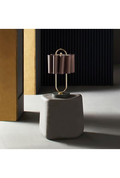 Enza Home GAZELLE Lüks Modern Tasarım Abajur (Füme Başlık)