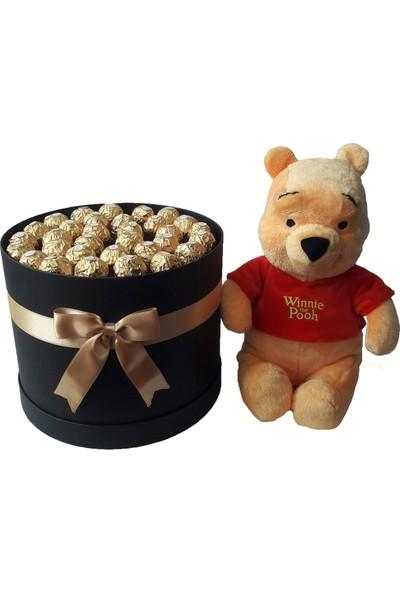 GiftiGifti XXL Tasarım Kutuda Enfes Çikolatalar 425 gr ve Sevimli Ayıcık