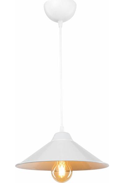 Modelight Maya Tekli Sarkıt Beyaz