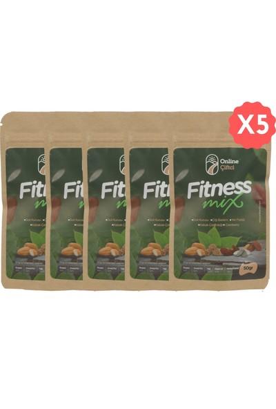 Online Çiftçi Fitness Mix Karışık Sağlıklı Atıştırmalık Kuruyemişler 50 gr x 5 Paket (250 gr)