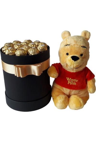 GiftiGifti Tasarım Kutuda Enfes Çikolatalar ve Winnie The Pooh 175 gr