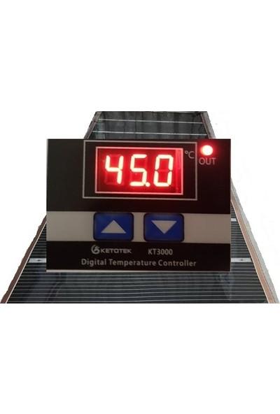 Rexva Dijital Termostat Lı 80x200 Halı Altı Karbon Isıtıcı Film 200x80 Hazır Şekilde