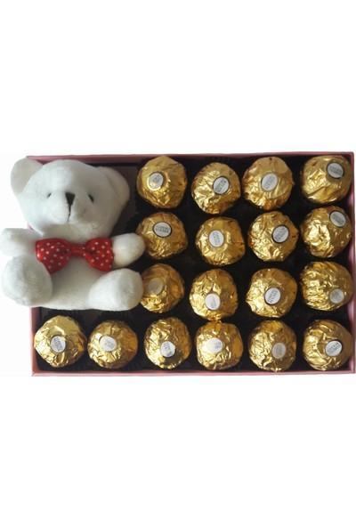 GiftiGifti Tasarım Kutuda Enfes Çikolatalar 250 gr ve Sevimli Ayıcık