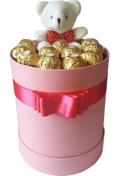 GiftiGifti Tasarım Kutuda Enfes Çikolatalar 150 gr ve Sevimli Ayıcık