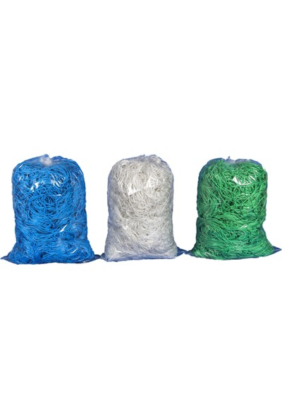 Almues Halı Saha Kale Ağı 6mm Floş Ipek Mavi