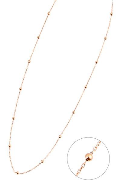 Argentum Concept Gümüş Toplu Rose Zincir Kolye