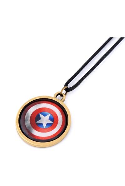 Apptakı Kaptan Amerika Kalkan Kolye - Kol0437