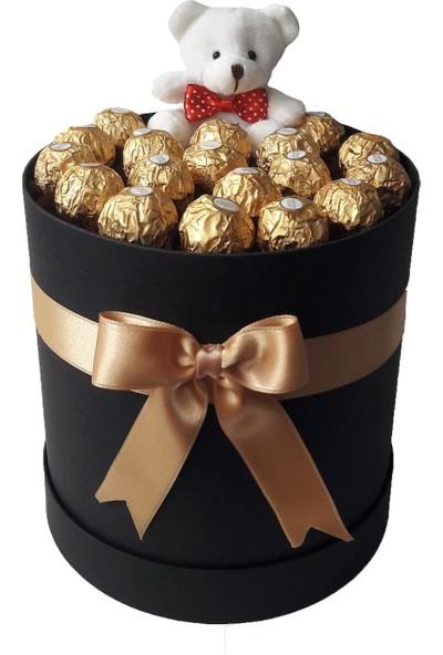 GiftiGifti Large Tasarım Kutuda Enfes Çikolatalar ve Ayıcık 230 gr