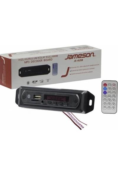 Jameson Js-4usb Oto Teyp Çevirici Usb/tf/fm/aux Bluetooth 12V